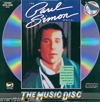 Paul Simon's The Paul Simon Special Music Laserdisc Rare Title!!