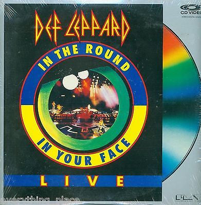 Def Leppard In The Round In Your Face Live Laserdisc Music Front