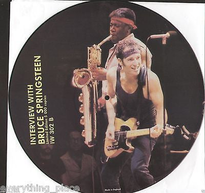 Interview w/ Bruce Springsteen Limited Edition Picture Disc Vinyl Record Album
