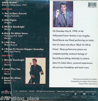 David Bowie Black Tie White Noise Laserdisc Music Back