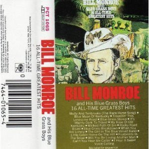 16 All Time Greatest Hits [Audio Cassette] Monroe, Bill
