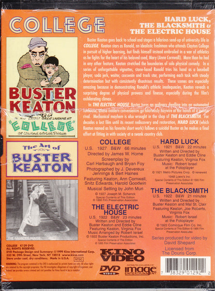 College Starring Buster Keaton on Kino Video DVD
