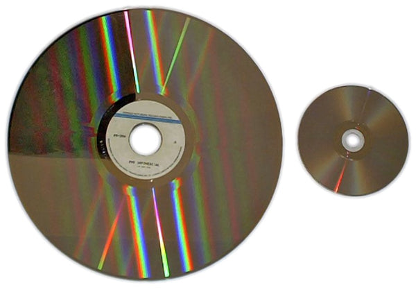 Laserdisc size compared to a dvd in size