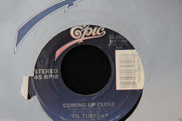 Til Tuesday Coming Up Close 45-rpm Record