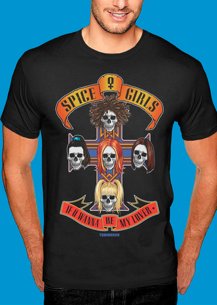 Spice Girls 'Guns N' Roses' Tshirt Man