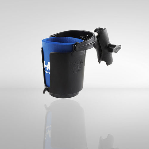Track Mount Ram Drink Cup Holder With Arm