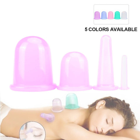 4 Piece Anti-Cellulite & Wrinkles Vacuum Cup Set