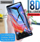 8D Full Cover Tempered Glass for Samsung Phones