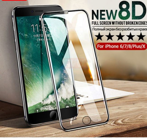 8D Full Cover Tempered Glass for Iphone