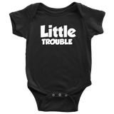 Baby Bodysuit - Big/Little Trouble - White Text