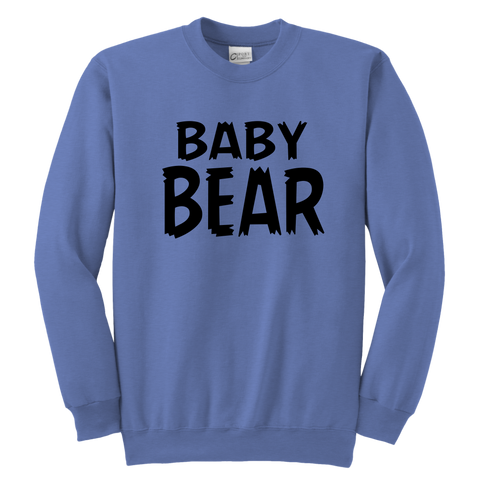 Youth Crewneck Sweatshirt - Papa/Mama Bear