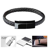 Leather Bracelet Charging & Data Transfer Cord