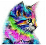 Diamond Art Kit - Rainbow Cat -