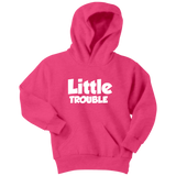 Youth Hoodie - Big/Little Trouble - White Text