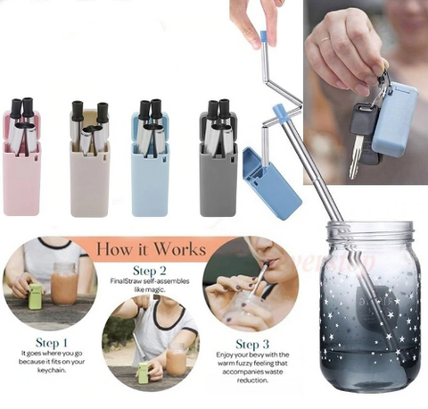 Reusable Stainless Steel Straw