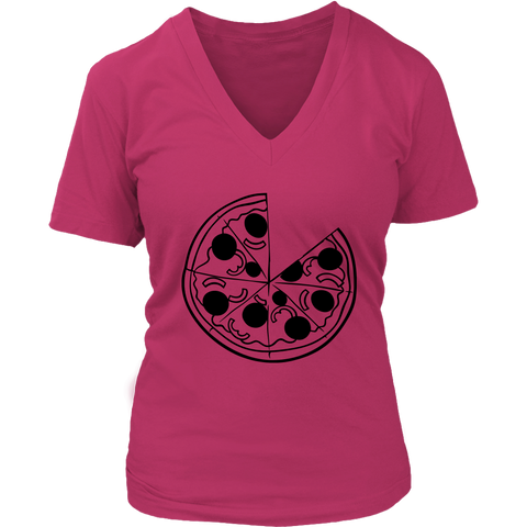 Womens V-Neck - Pizza