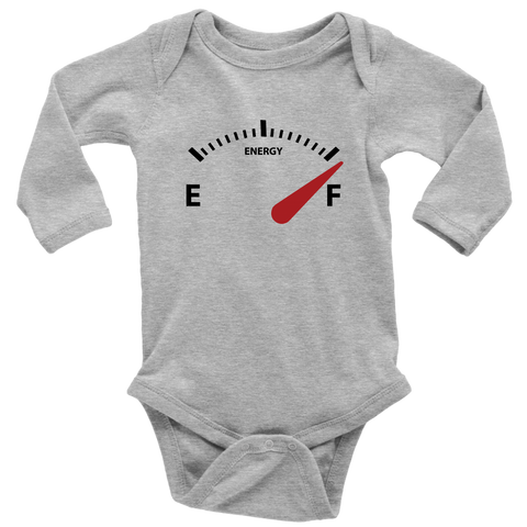Long Sleeve Baby Bodysuit - Energy