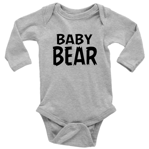 Long Sleeve Baby Bodysuit - Papa/Mama Bear