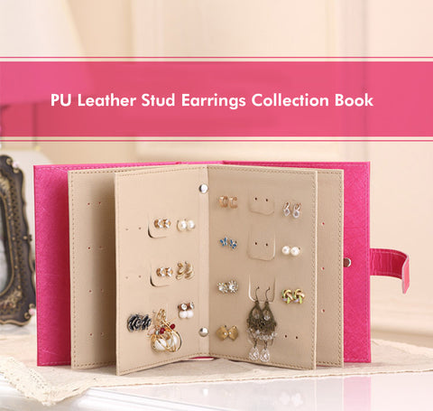 Leather Earrings Organizer Book