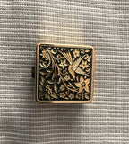 Hand Carved Gold Pillbox