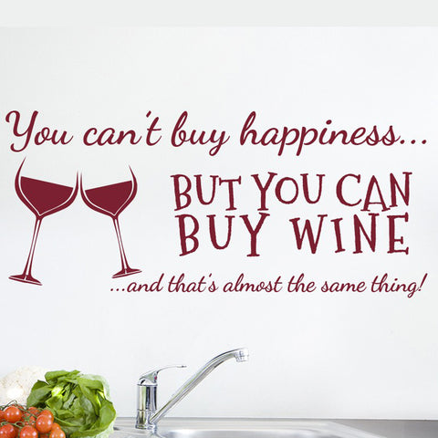 Wine Vinyl Wall Art Decal