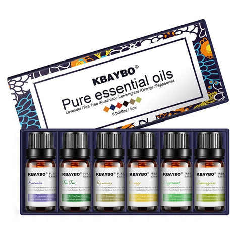 6 Pcs Essential Aromatherapy Oils (for diffusers)