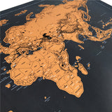 Travel Scratchable World Map