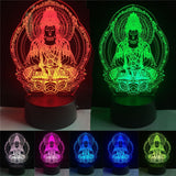 3D Buddha Optical Illusion Lamp