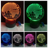 3D Europe Map Globe Optical Illusion Lamp