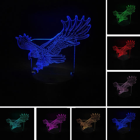 3D Eagle Optical Illusion Lamp