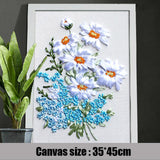 3D Embroidery Flowers Pattern Kit