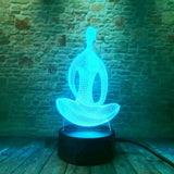 3D Yoga Optical Illusion Lamp