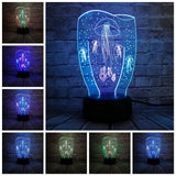 3D Jellyfish Optical Illusion Lamp
