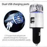 Car Ionic Air Purifier Dual USB Charger Ports