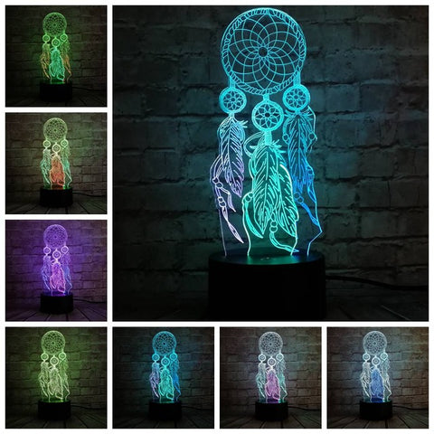 3D Dream Catcher Optical Illusion Lamp