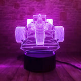 3D Race Car Optical Illusion Lamp