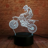 3D Motorcycle Optical Illusion Lamp