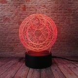 3D Anime Japanese Cardcaptor Optical Illusion Lamp