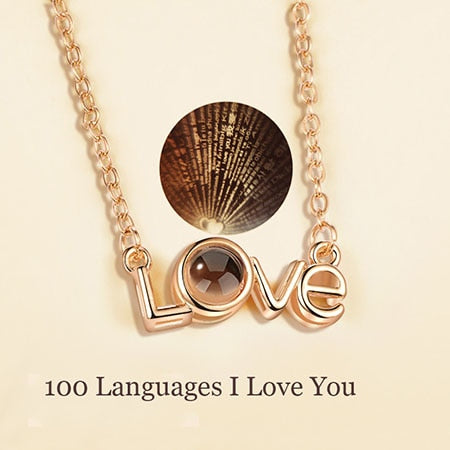"100 Language ""I Love You"" Gorgeus Design Necklace"