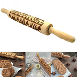 Christmas Wooden Dough Roller