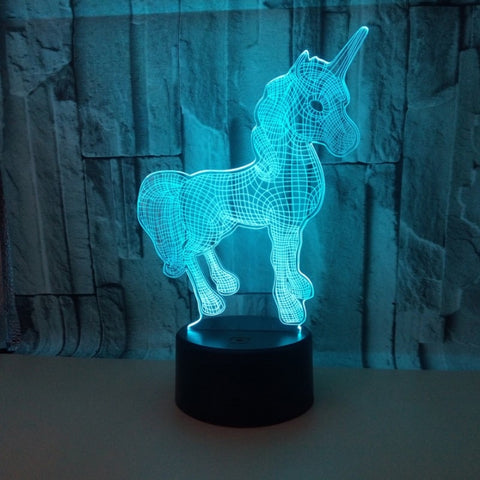 3D Unicorn Optical Illusion Lamp