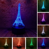 3D France Eiffel Tower Optical Illusion Lamp