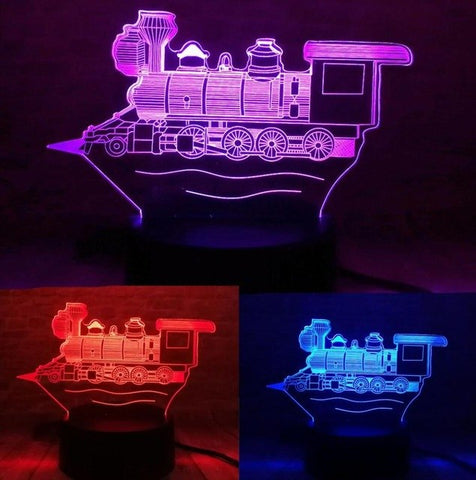 3D Locomotive Optical Illusion Lamp