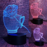 3D Romantic Coffee Cup Optical Illusion Lamp