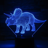 3D Triceratops Dinosaur Optical Illusion Lamp