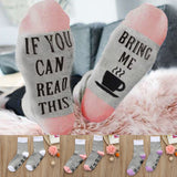 "Women ""If You Can Read This,  Bring Me ..."" Casual Socks (1 Pair)"