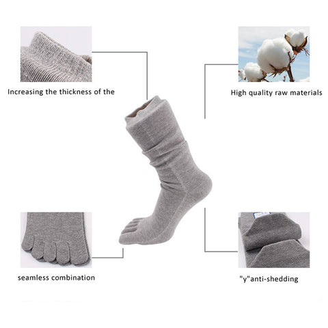 Compression Toe Socks (5 Pairs Set)