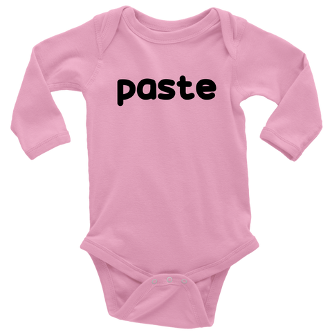 Long Sleeve Baby Bodysuit - Copy Paste