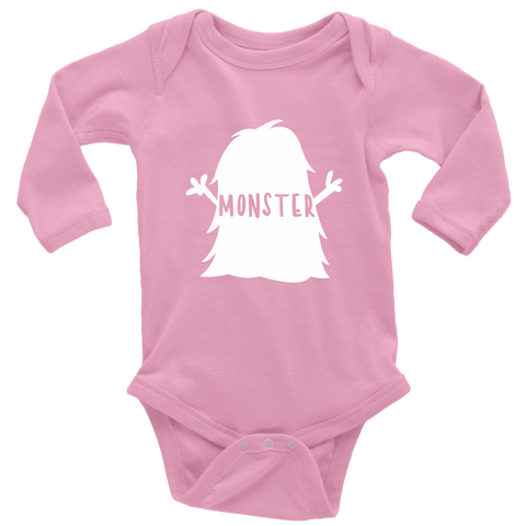 Long Sleeve Baby Bodysuit - I Created a Monster