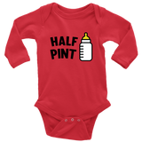 Long Sleeve Baby Bodysuit - Pint/Half Pint